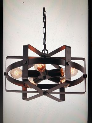 Antique black metal lamp for Sale in Cleveland, OH