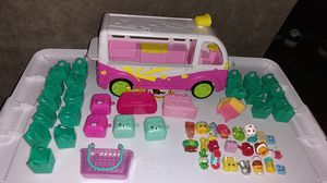 Shopkins Toy Set With Bus & Shopping bags Bundle $15 For All for Sale in Costa Mesa, CA