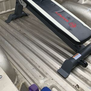 Adjustable Workout Marcy Olympic Bench With Weights for Sale in Vancouver, WA