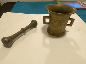 Solid brass mortar and pestle for Sale in Vancouver, WA