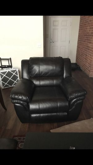 Faux leather furniture, dark brown. Reclining. for Sale in Detroit, MI