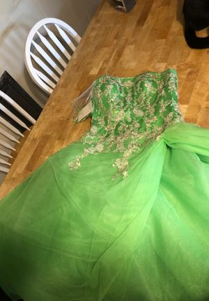 "Size 10 precious formals prom dress ""lime fizz"" for Sale in Fort Oglethorpe, GA"