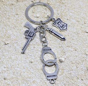 Police Cop Gun Bullet Cuffs Charm Keychain for Sale in Lester, WV