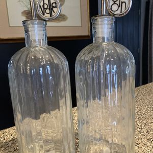 Glass Gin And Vodka Bottles for Sale in Hammonton, NJ