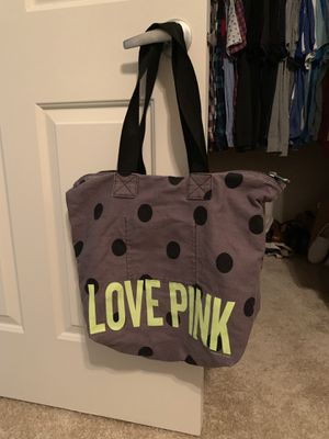 Grey and neon yellow/green Victoria's Secret bag for Sale in Sherwood, OR