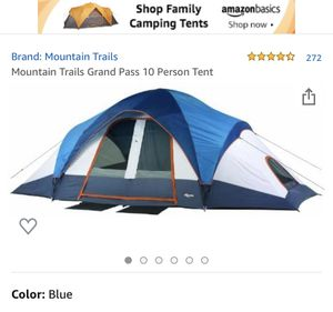 Mountain trails grand pass sleeps 10 - 2 room family dome tent for Sale in Norwalk, CA