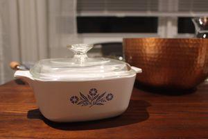 Vintage Corning Ware Blue Cornflower 2 Qt Casserole Dish & Pyrex Lid P 2 1/2 B for Sale in Pompano Beach, FL