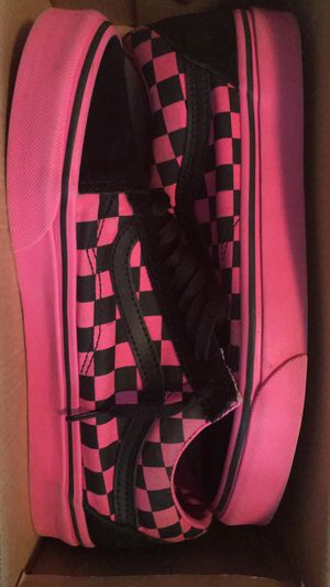 Pink and Black Checkered Board Vans for Sale in Greensboro, NC