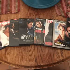 8 CLASSIC TOM CRUISE FILMS ON DVD for Sale in Long Beach, CA