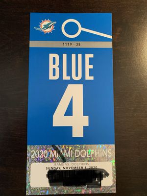 Miami Dolphins Blue Parking Pass for Sale in Fort Lauderdale, FL