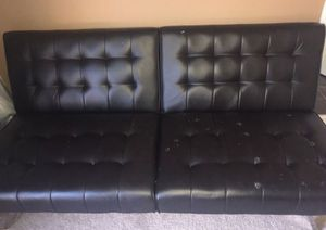 Brown Leather Futon for Sale in Houston, TX