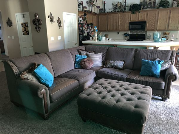 Michael Amini brown sectional for Sale in Bakersfield, CA ...