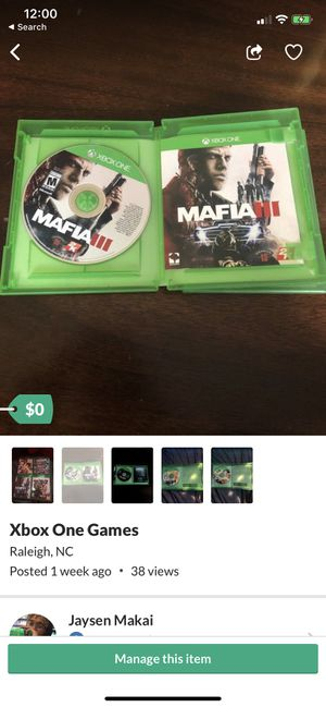 mafia 3 for Sale in Raleigh, NC