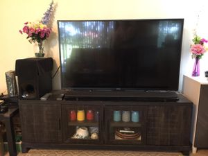 Sony XBR-55X700D Tv / Sony HT-NT5 home theatre and 65 inch TV stand for Sale in Fort Myers, FL