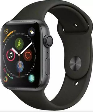 Apple Watch Series 4 44 mm Space Gray Aluminum Case with Black Sport Band. for Sale in Corona, CA