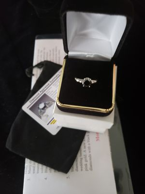 Sz 7.5 1.26 ct 100% real black diamond set in solid silver for Sale in Meriden, CT