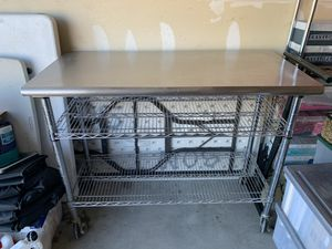 Stainless steel chef's table or work bench for Sale in Peyton, CO