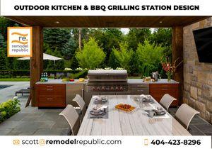 Outdoor Kitchen & BBQ Grilling Station Design for Sale in Atlanta, GA
