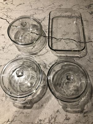 Pyrex / Archer casserole dishes / glass for Sale in Fort Lauderdale, FL