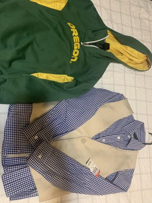 Boys' clothes The formal shirt set, size 10, and the green blouse are little used, but it is in good condition and size 10/12 for Sale in Maple Valley, WA
