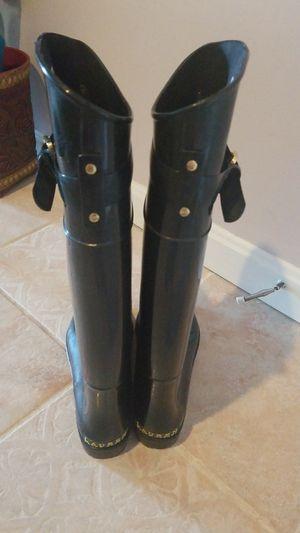 Ralph Lauren tall rain boots in black for Sale in Alexandria, VA