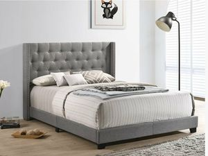 New grey queen bed frame only for Sale in Lake Charles, LA