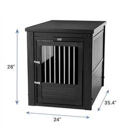 New Age Pet ecoFLEX Single Door Furniture Style Dog Crate & End Table, Black, 35 inch for Sale in Woodbridge Township,  NJ