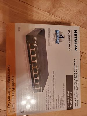 NETGEAR 8-Port Gigabit Ethernet Unmanaged Switch (GS308) - Home Network Hub for Sale in Fontana, CA