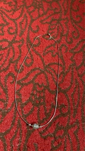 """Sterling silver chain n hand made sterling charm 18"""" for Sale in Revere, MA"""