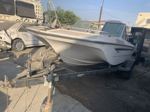 Trailer and boat for Sale in Colton, CA