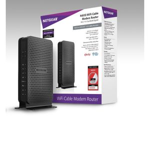 NETGEAR N600 (8x4) WiFi Cable Modem Router Combo C3700 for Sale in Washington, DC