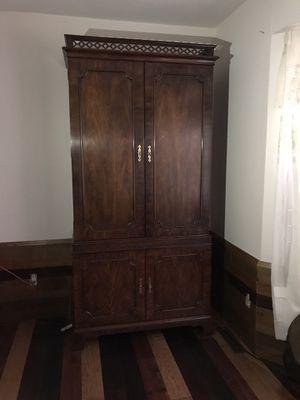 Dark wood Armoire for Sale in Wichita, KS
