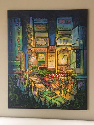 5'X4' City Lights Canvas Painting for Sale in Phoenix, AZ