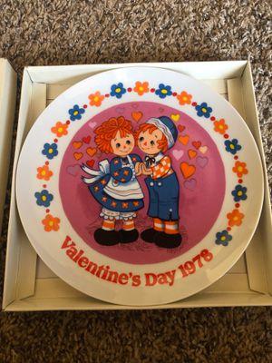 Raggedy Ann and Andy Valentines Plate for Sale in El Cerrito, CA