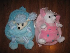 2 Blue and Pink Baby Toddler Kids Girl toy-backpack for Sale in Los Angeles, CA