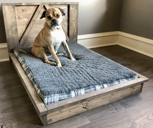 Handmade to Order custom Farmhouse wood dog/pet bed for Sale in Clayton, NC