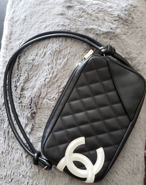 CHANEL Cambon Line Quilted Hand Bag Black Leather for Sale in Tamarac, FL