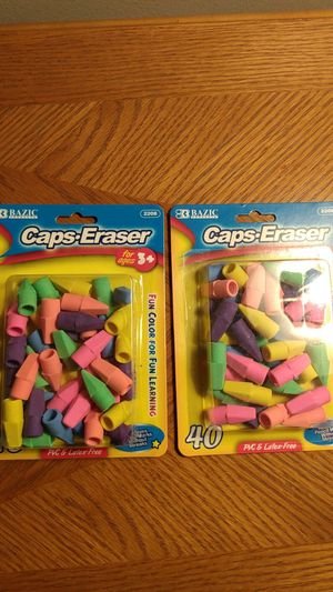 Cap erasers 40 pack for Sale in Orland Hills, IL