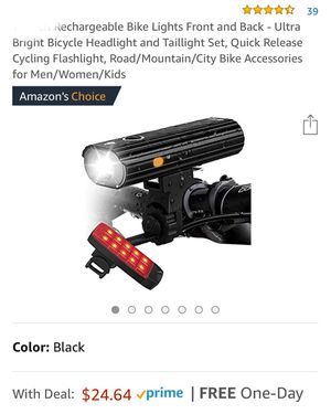 Rechargeable Bike Lights Front and Back - Ultra Bright Bicycle Headlight and Taillight Set for Sale in New York, NY