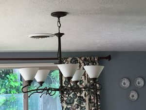 Oil rubber bronze chandelier for Sale in Portland, OR