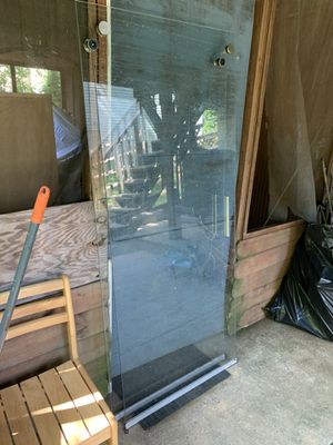 Shower glass door panels only, mirror and sink $150 for Sale in MONTGOMRY VLG, MD