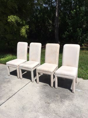 All 4 White Chairs $10 for Sale in Bonita Springs, FL
