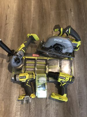 Custom Ryobi 18v set w/ 2 batteries and a charger. for Sale in Upland, CA