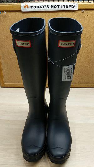 Sz 10 Hunter Women's Original Tall Navy Rain Boots for Sale in Pomona, CA