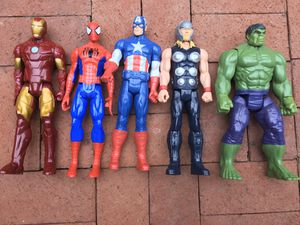 Maverl Super Hero Large Action Figure Lot Of 5-Aweosme Lot!! for Sale in Sandy Springs, GA