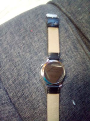 Wilon black leather wrist band watch, for Sale in Hannibal, MO