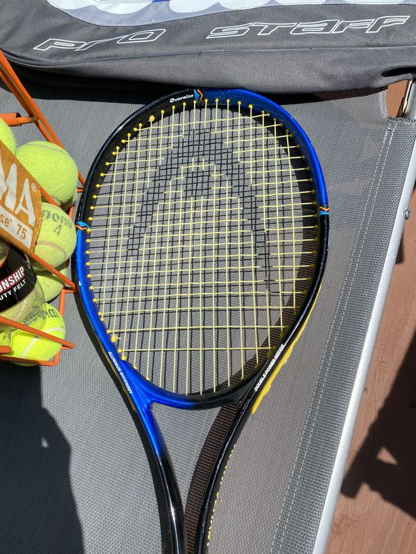 Tennis set ( 2 rackets + ball hopper + several balls 🎾 + a bag )