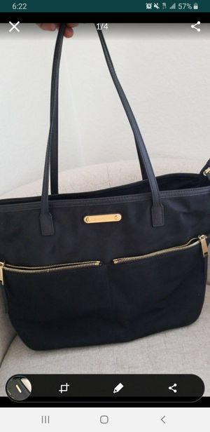 AUTHENTIC Michael Kors Black Nylon bag large compartments diaper bag clean in and out l@@k for Sale in Riverside, CA