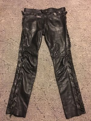 Verducci Men's Lace Up Leather Motorcycle Pants W38 L32 for Sale in Issaquah, WA