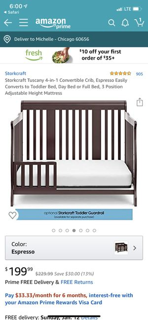 Crib and mattress for Sale in SEATTLE, WA